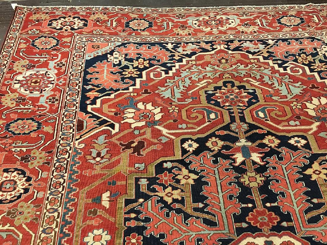 Persian Heriz Carpet 11.6x9.7 - 5