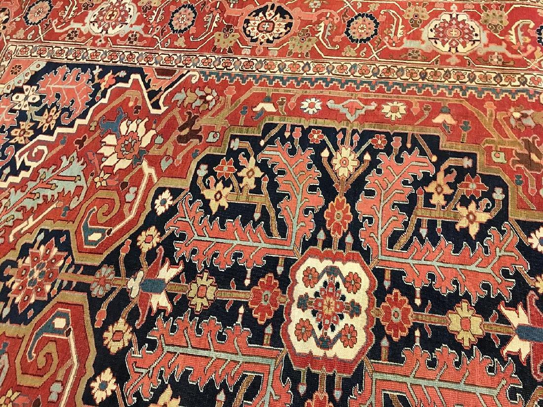 Persian Heriz Carpet 11.6x9.7 - 6