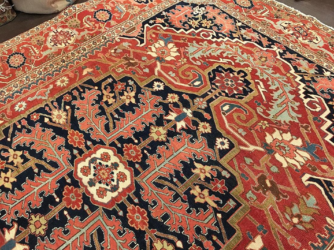Persian Heriz Carpet 11.6x9.7 - 7