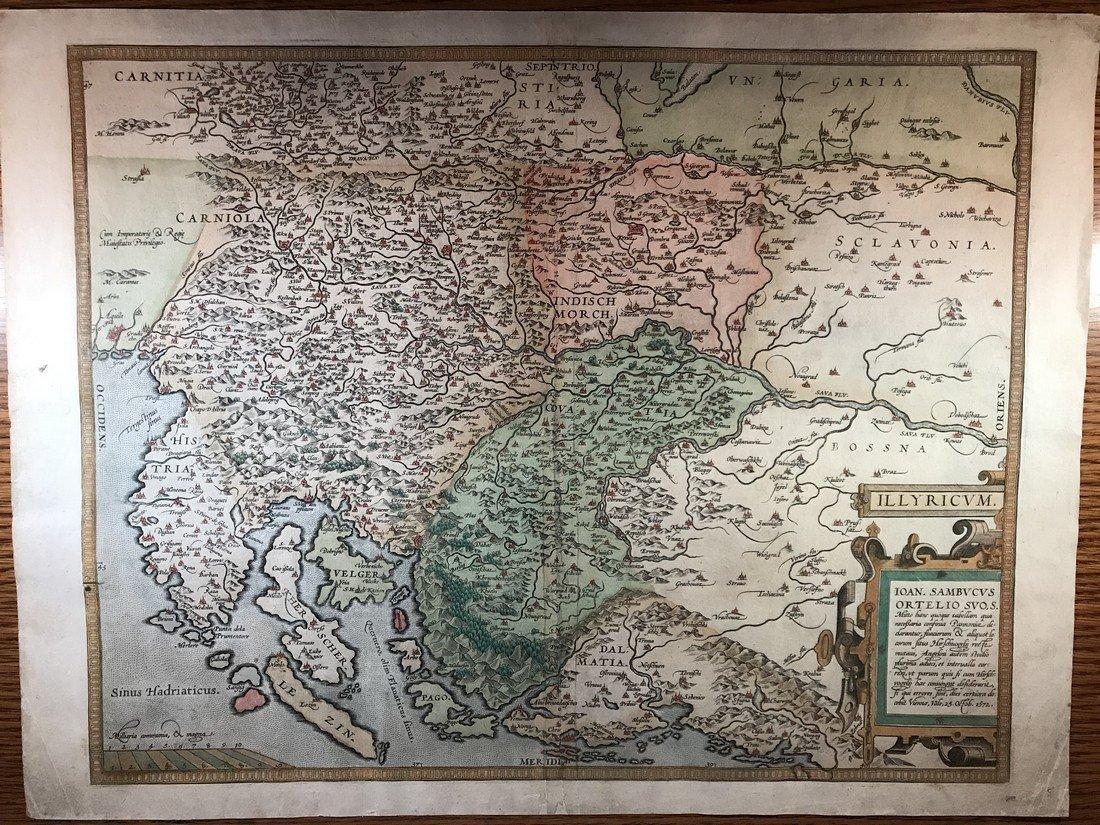 Ortelius Antique Map: Illyricum