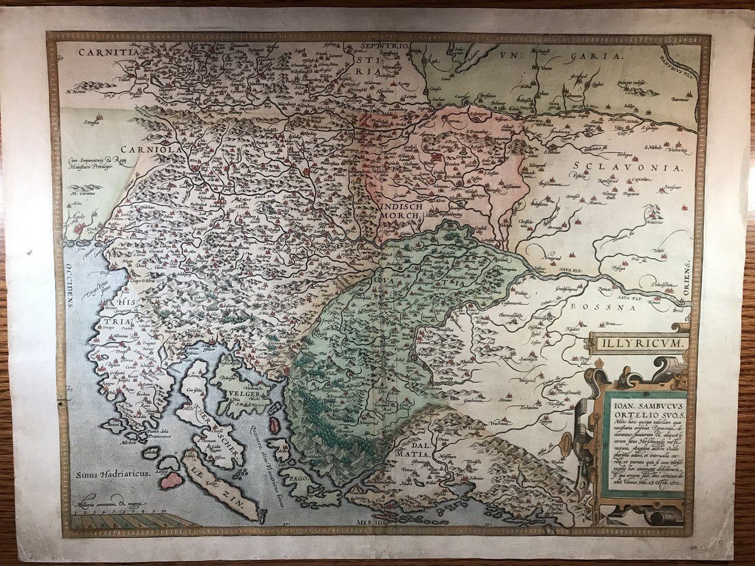 Ortelius Antique Map: Illyricum