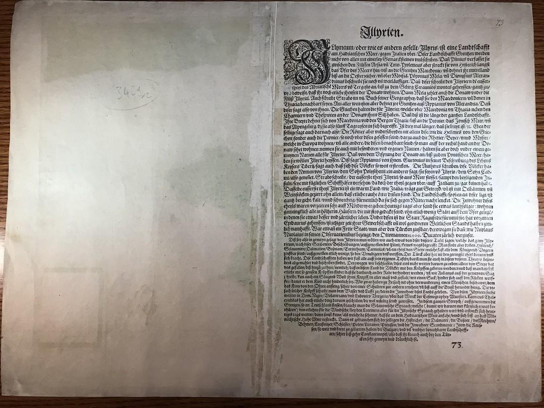 Ortelius Antique Map: Illyricum - 3