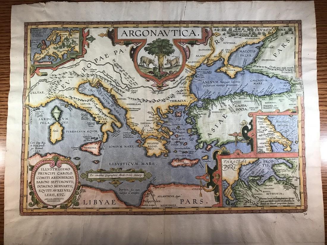 Ortelius Antique Map: Argonautica