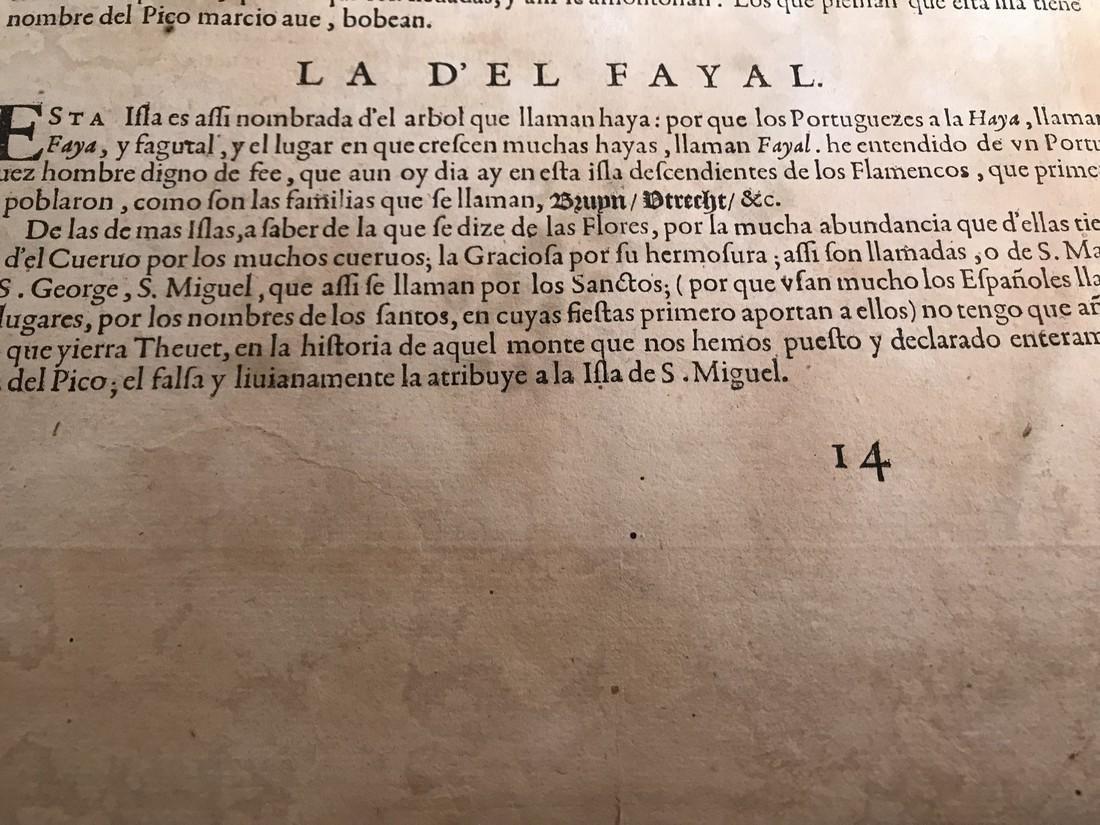 Ortelius Antique Map: Acores Insula - 5