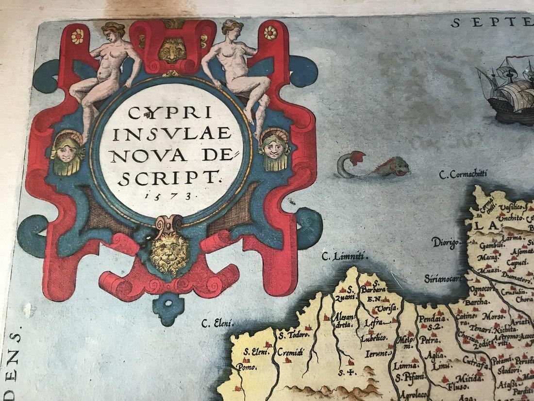 Ortelius Antique Map: Cypri Insula - 2