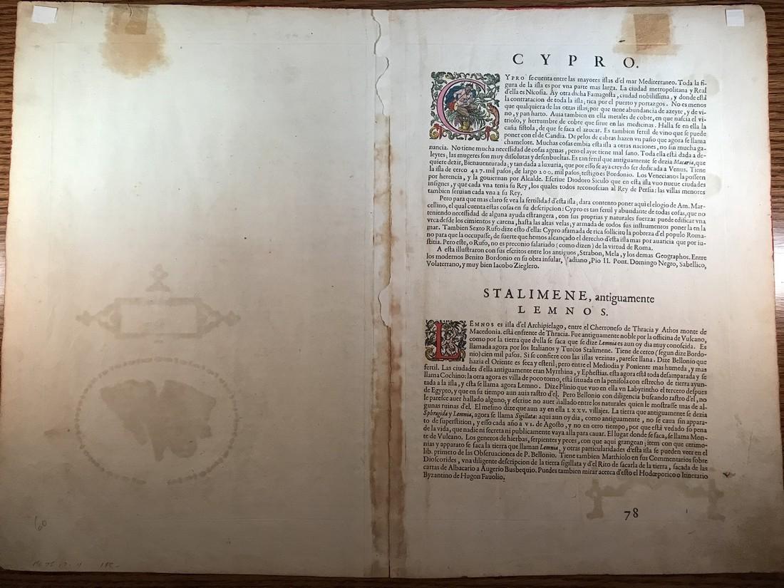 Ortelius Antique Map: Cypri Insula - 3