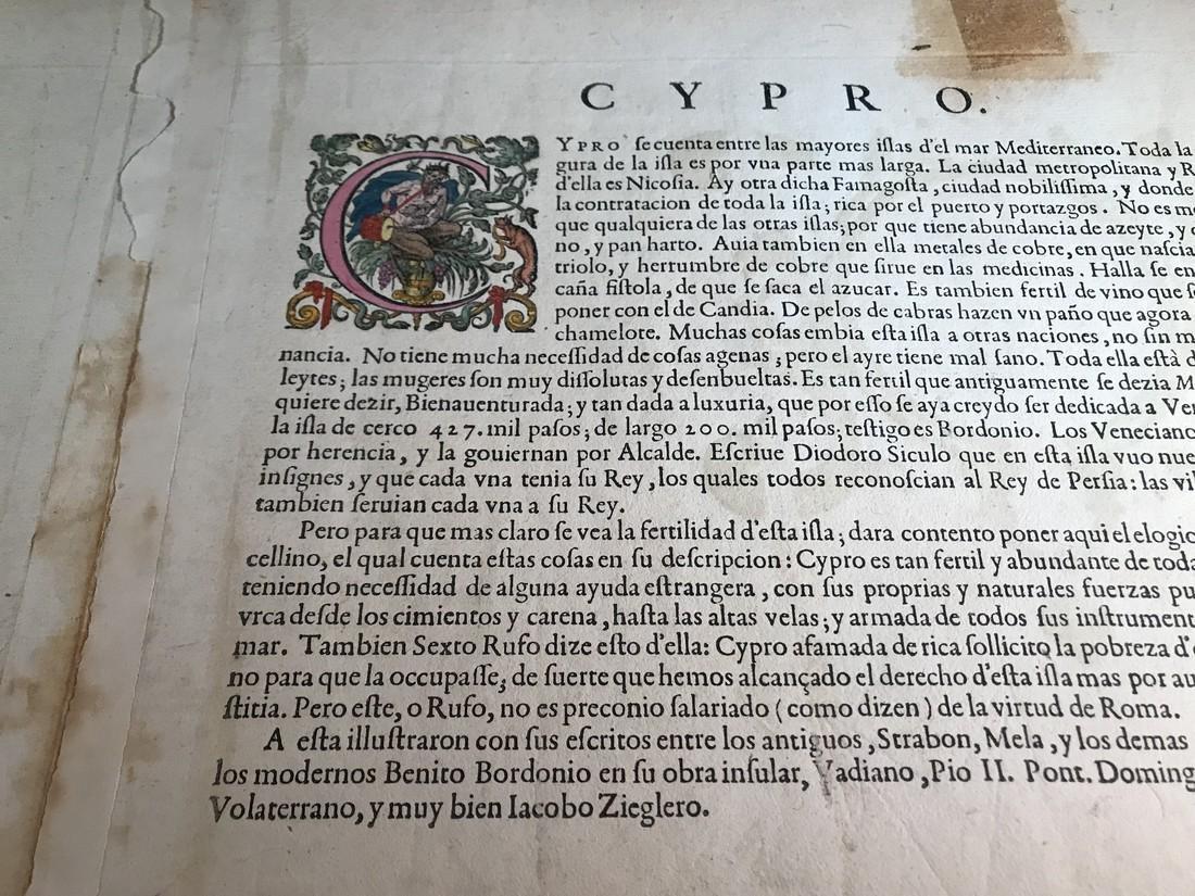 Ortelius Antique Map: Cypri Insula - 4