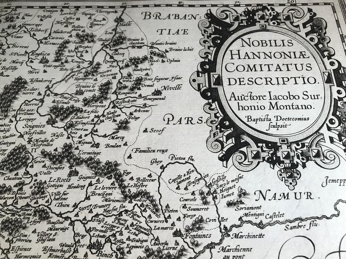 Ortelius Antique Map: Noblis Hannoniae Comitatus - 2