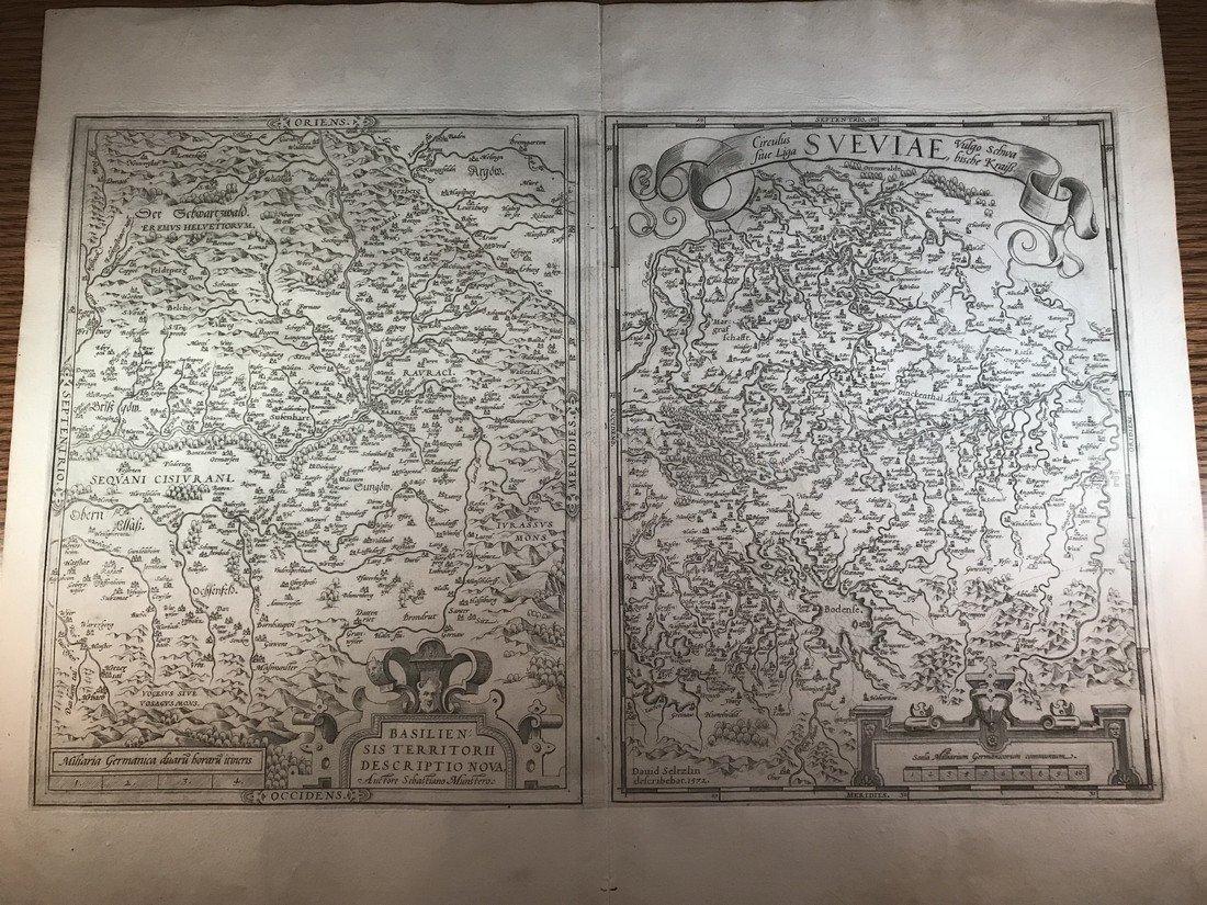 Ortelius Antique Map: Basiliensis Territorii