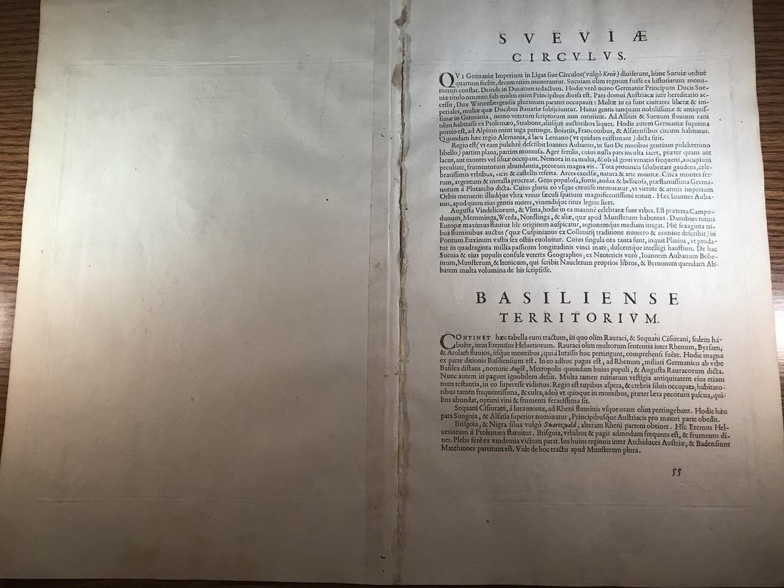 Ortelius Antique Map: Basiliensis Territorii - 3