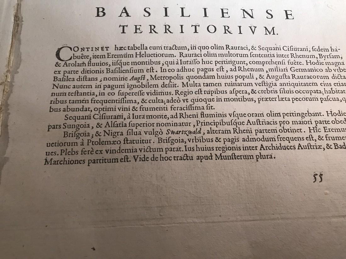 Ortelius Antique Map: Basiliensis Territorii - 5