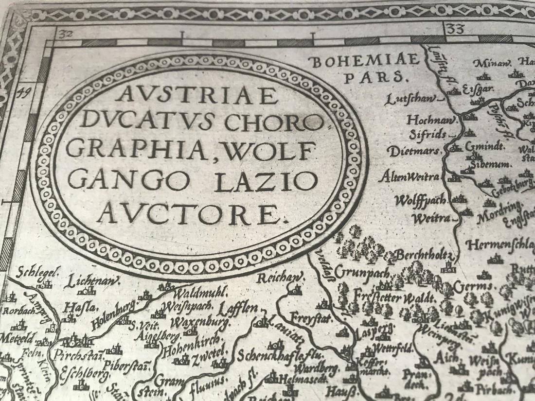 Ortelius Antique Map: Austriae Ducatus Chorographia - 2