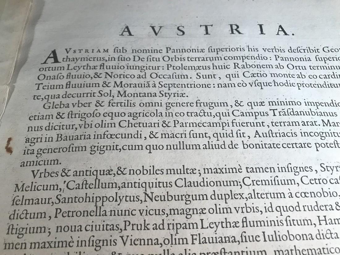 Ortelius Antique Map: Austriae Ducatus Chorographia - 3