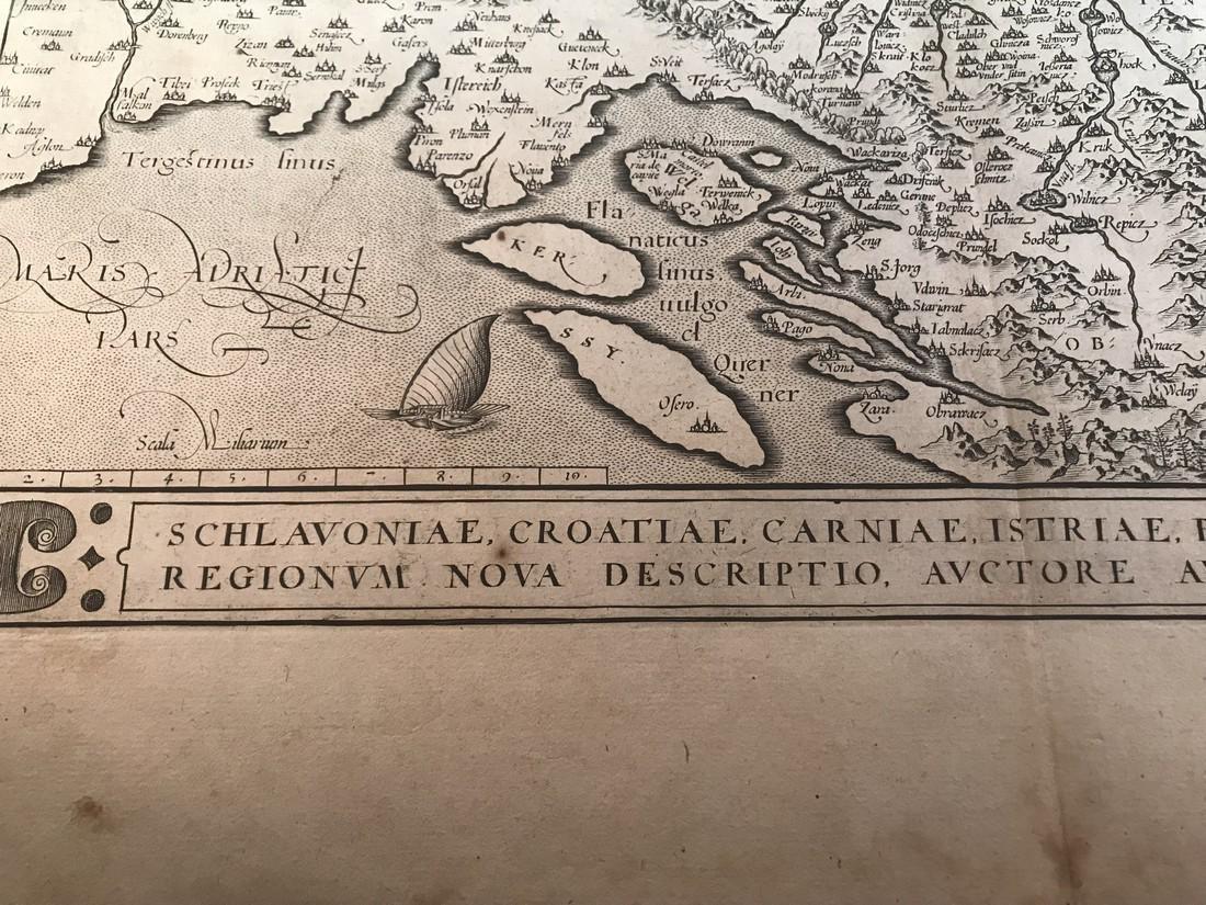 Ortelius Antique Map: Schlavoniae, Croatiae, Carniae, - 2