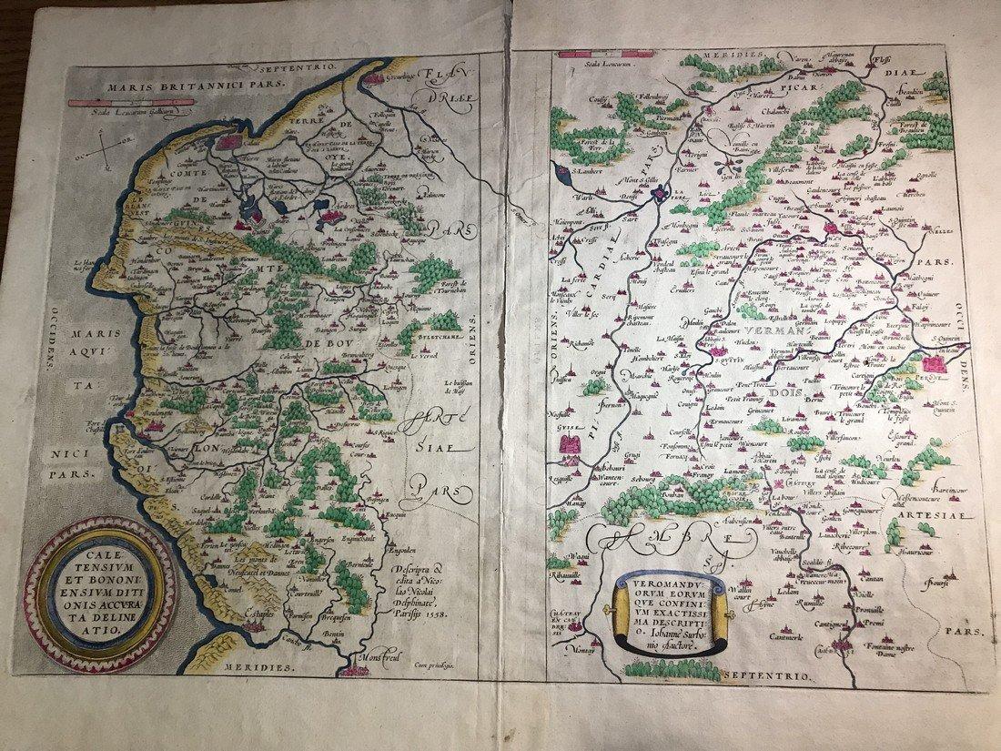 Ortelius Antique Map: Caletensium