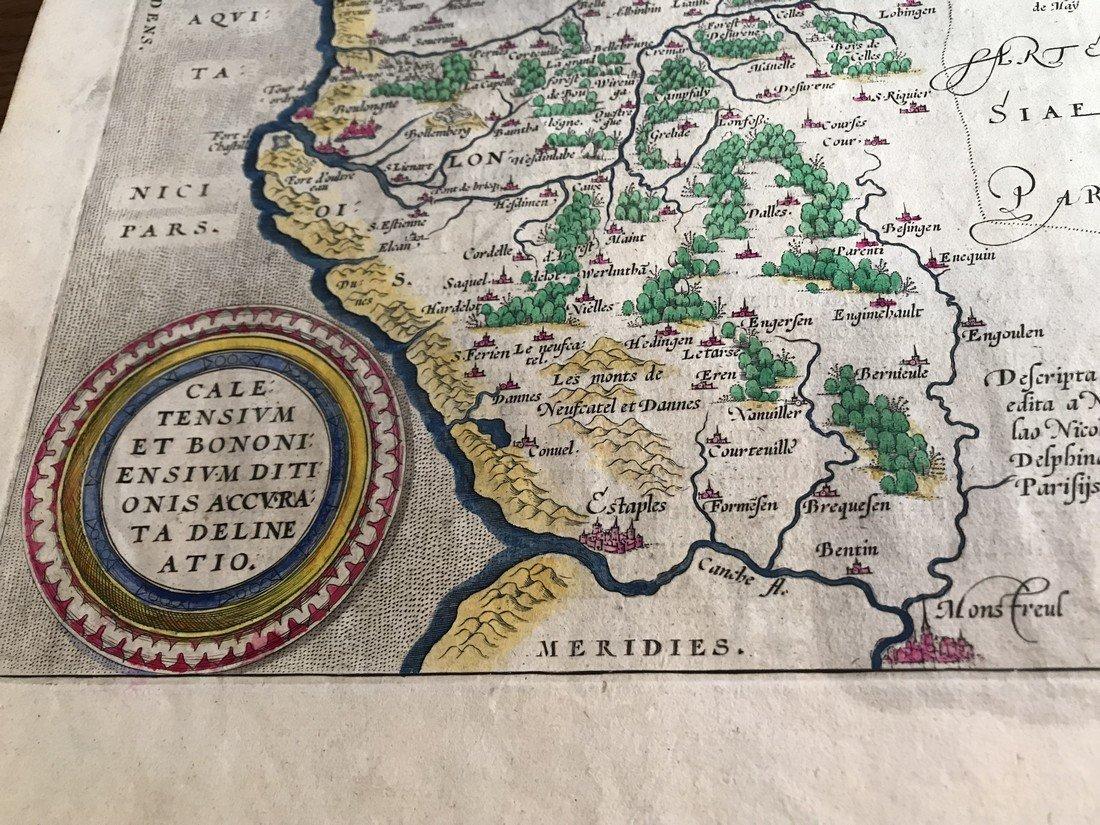 Ortelius Antique Map: Caletensium - 2