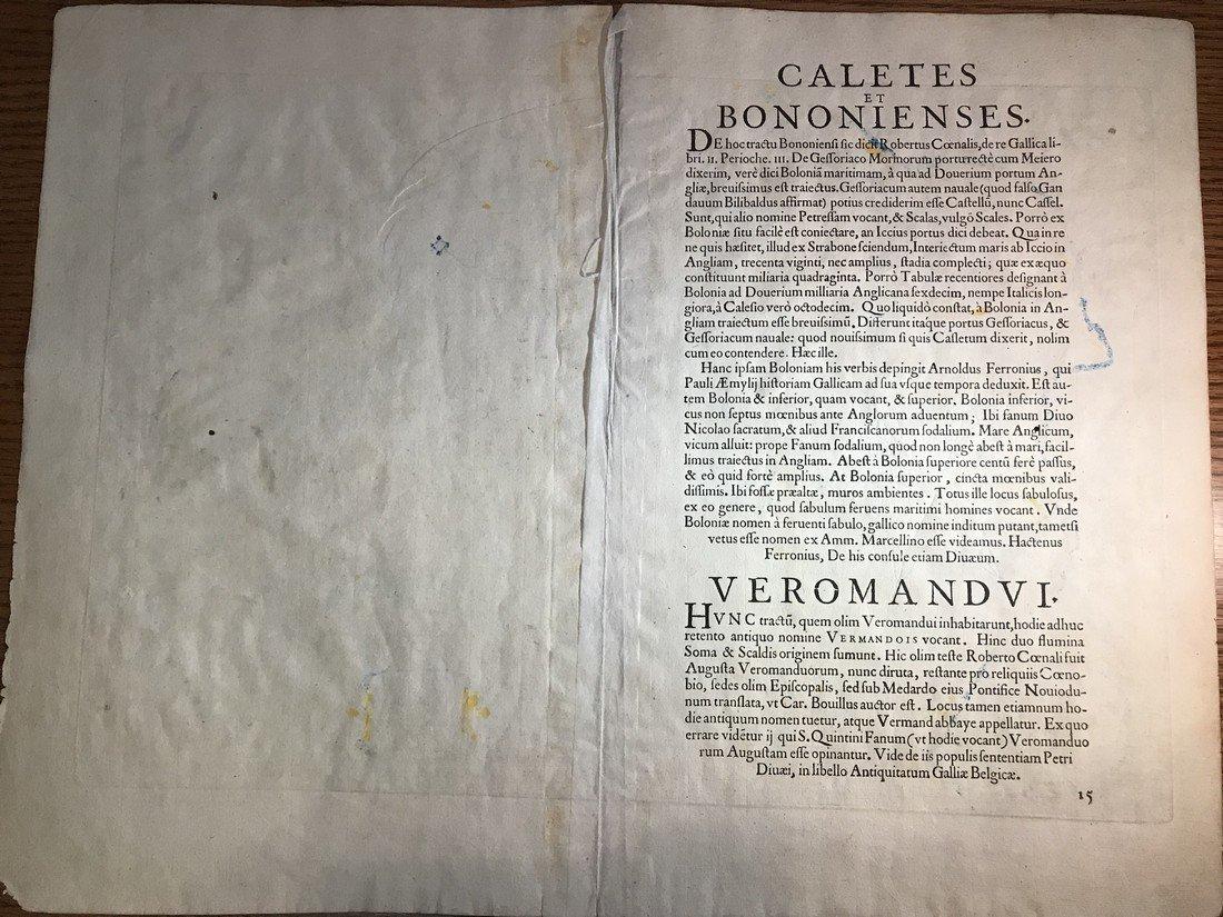 Ortelius Antique Map: Caletensium - 3