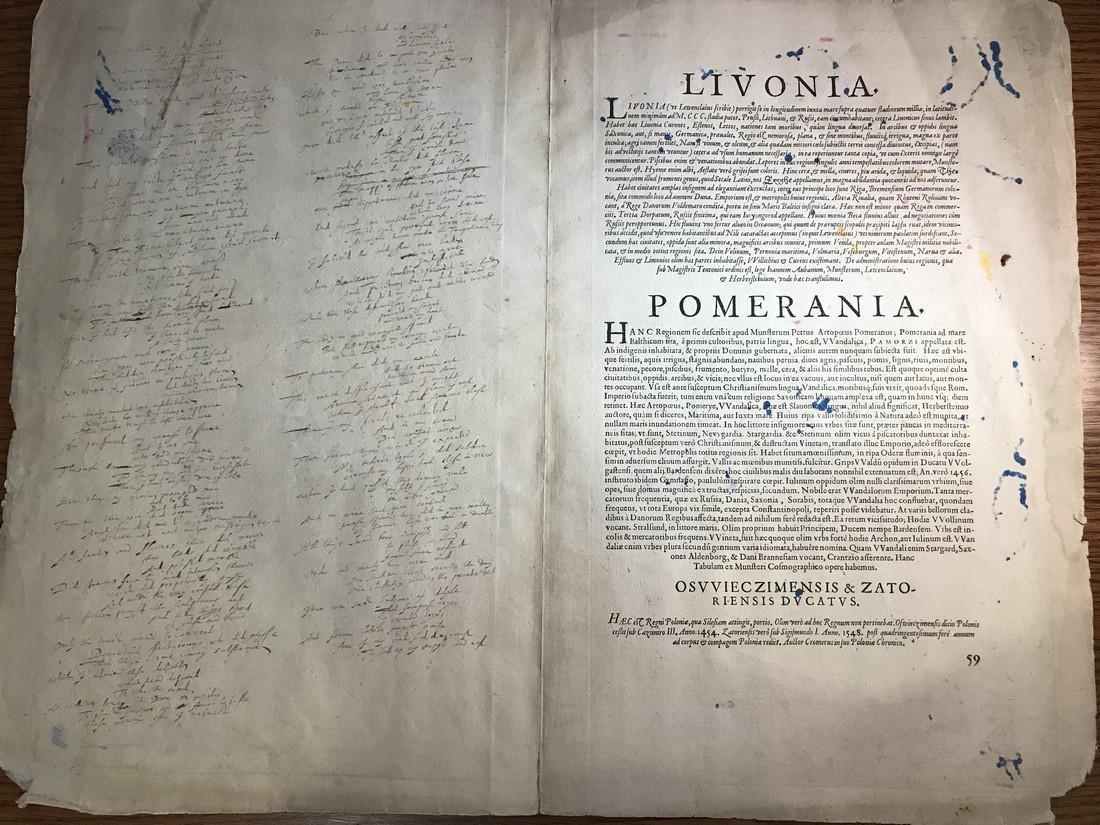 Ortelius Antique Map: Livoniae, Pomeraniae - 2