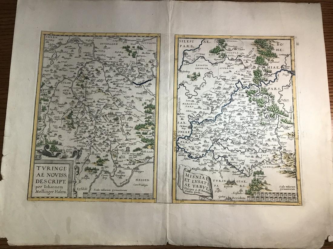 Ortelius Antique Map: Turingiae, Misniae et Lusatiae