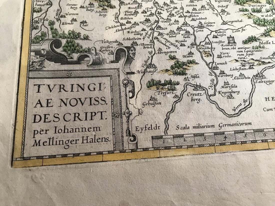 Ortelius Antique Map: Turingiae, Misniae et Lusatiae - 2