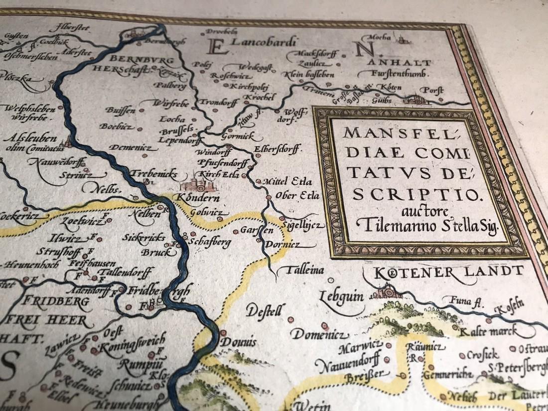 Ortelius Antique Map: Mansfeldiae Comitatus Descriptio - 2