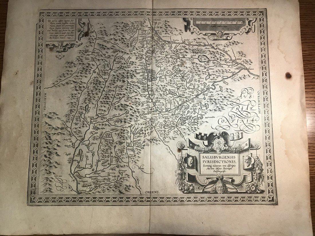 Ortelius Antique Map: Salisburgensis  Iurisdictionis