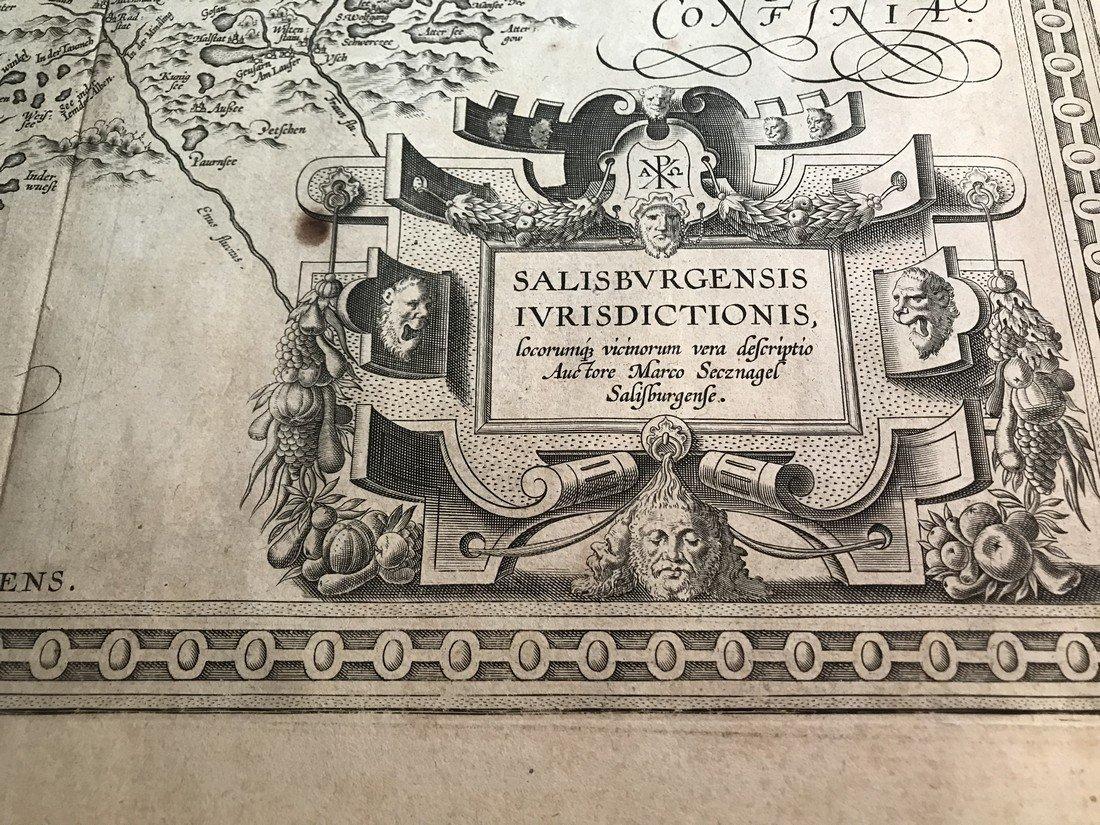 Ortelius Antique Map: Salisburgensis  Iurisdictionis - 2