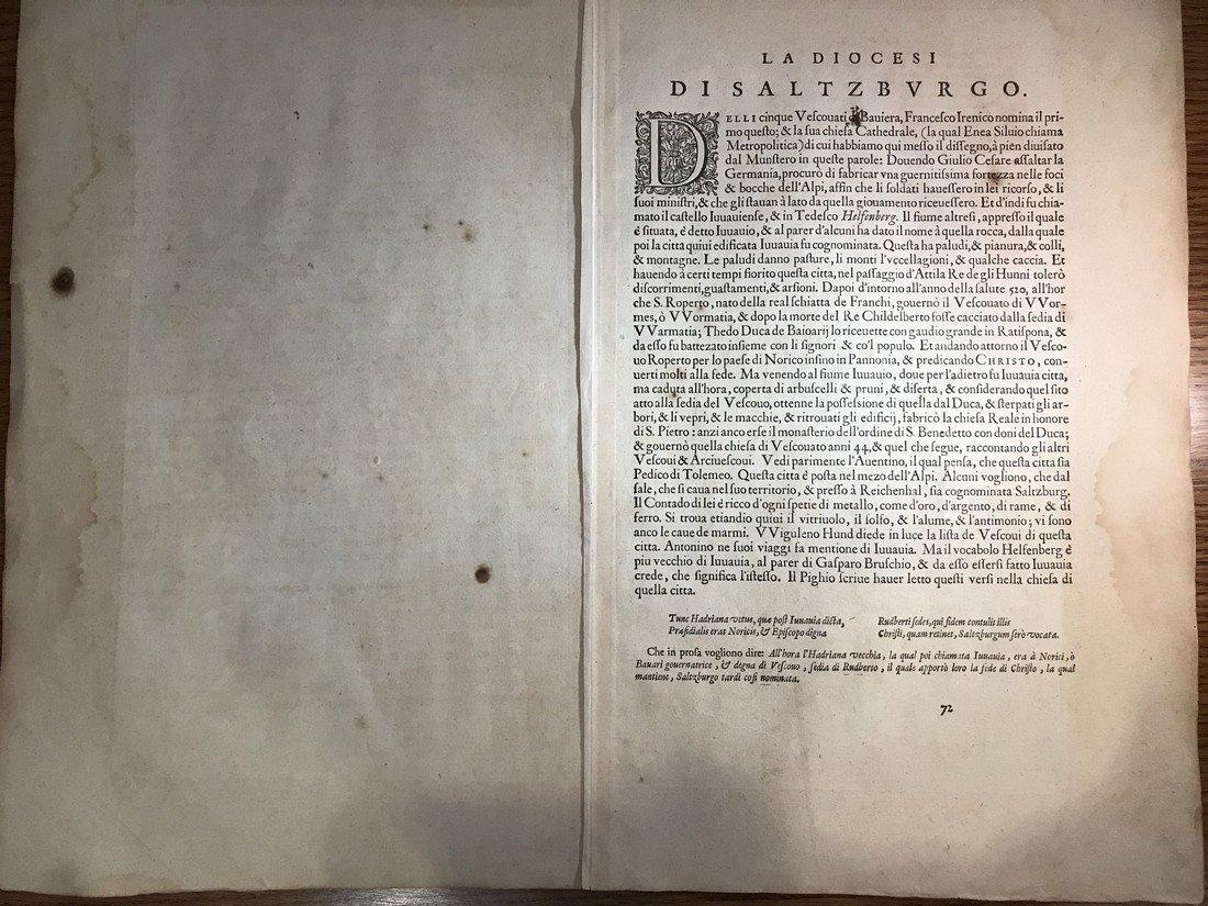 Ortelius Antique Map: Salisburgensis  Iurisdictionis - 3