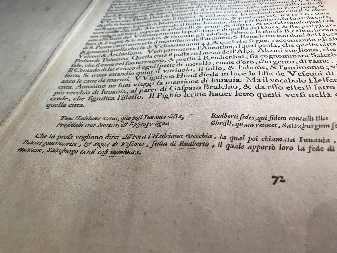 Ortelius Antique Map: Salisburgensis  Iurisdictionis - 5