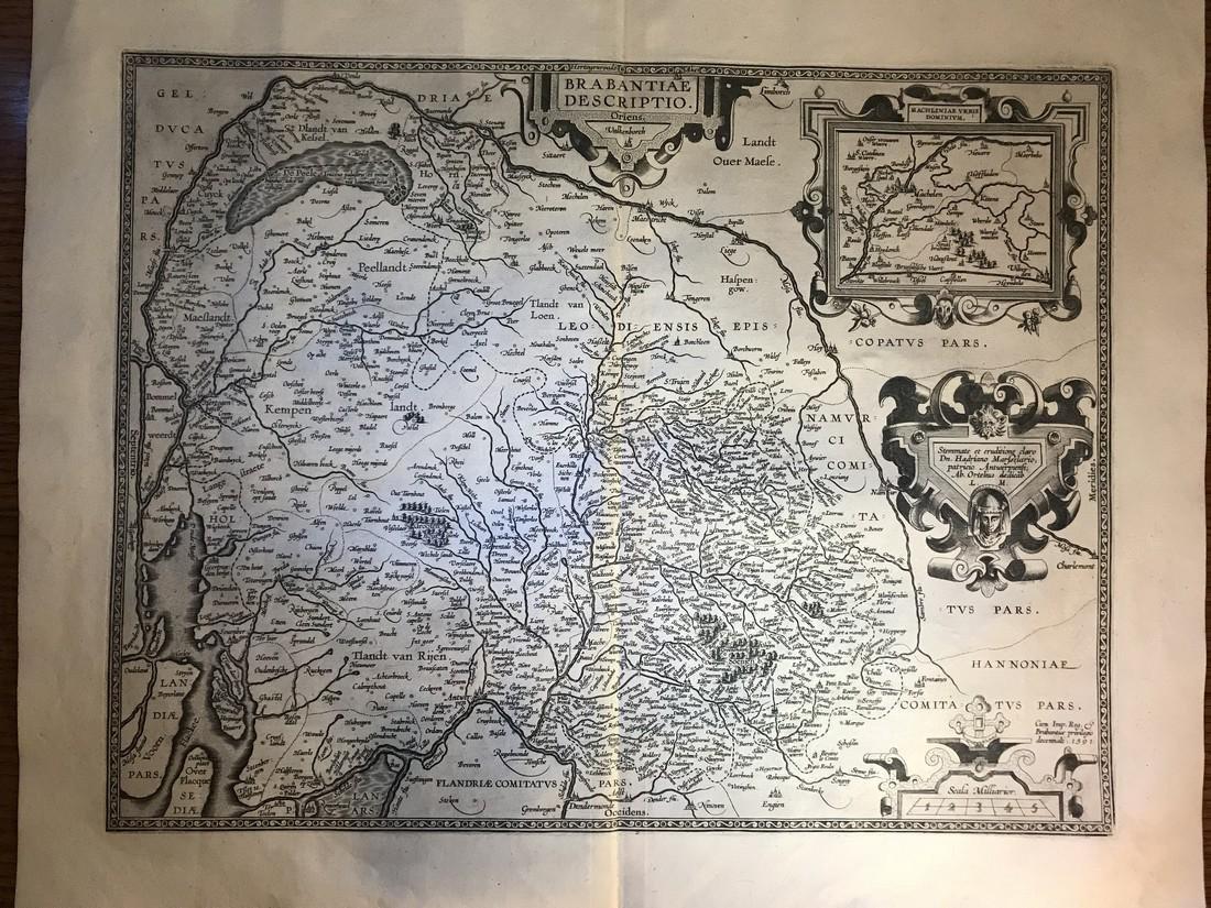 Ortelius Antique Map: Brabantiae Discriptio