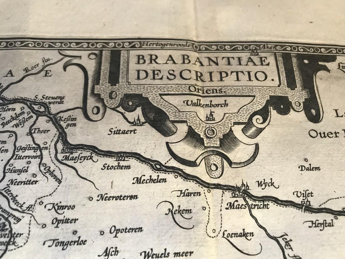 Ortelius Antique Map: Brabantiae Discriptio - 2