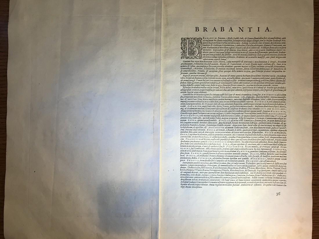 Ortelius Antique Map: Brabantiae Discriptio - 3
