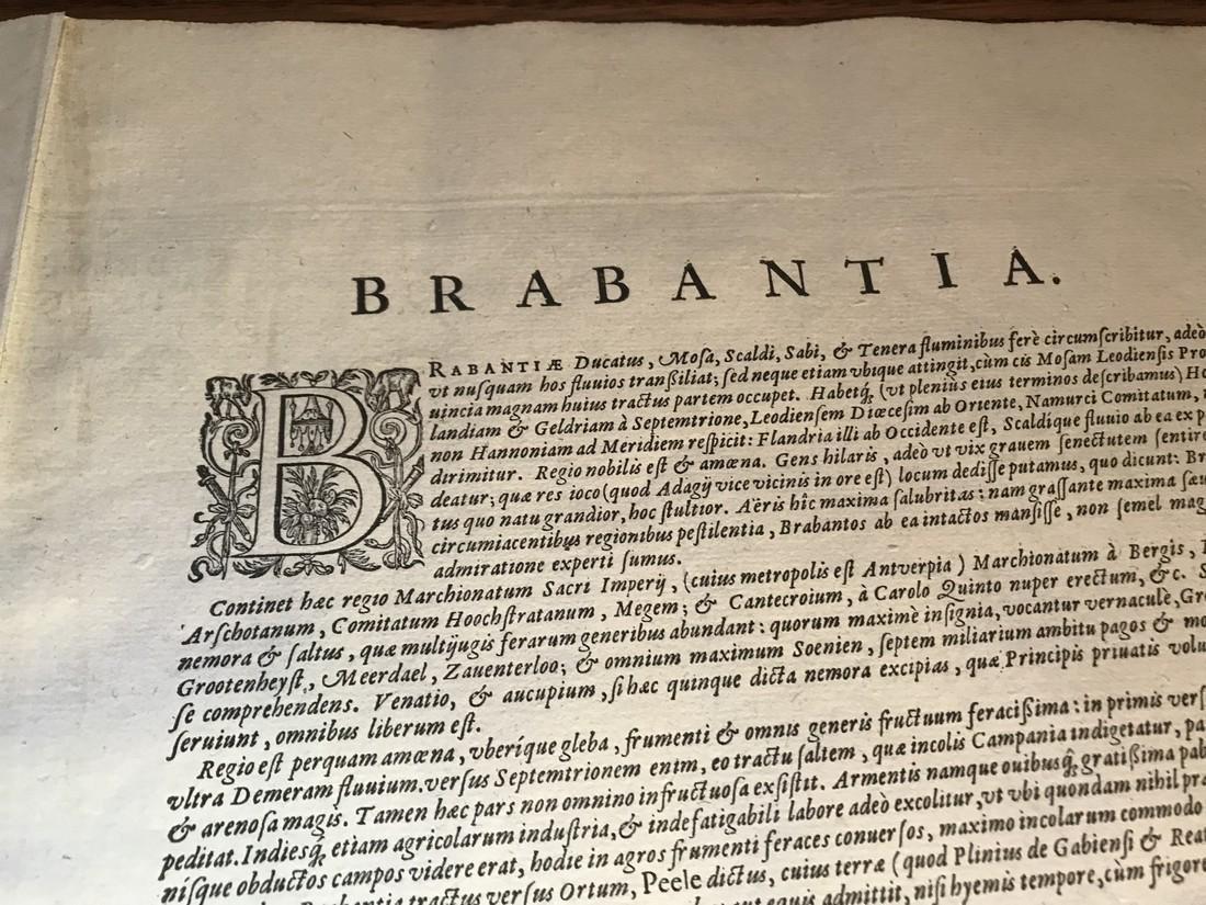 Ortelius Antique Map: Brabantiae Discriptio - 4