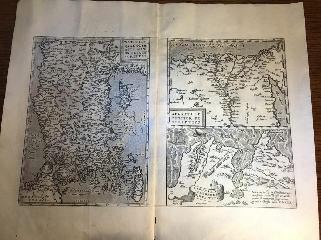 Ortelius Antique Map: Aegypti – Carthaginis - Natoliae