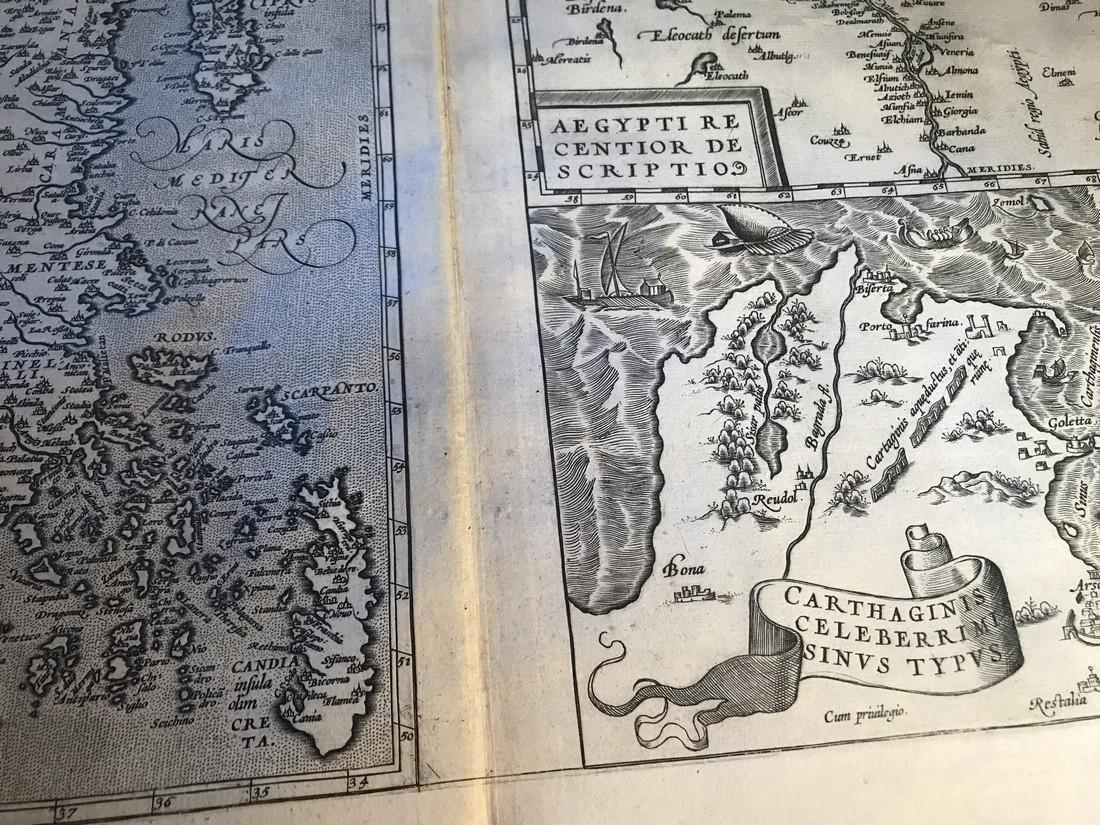 Ortelius Antique Map: Aegypti – Carthaginis - Natoliae - 2