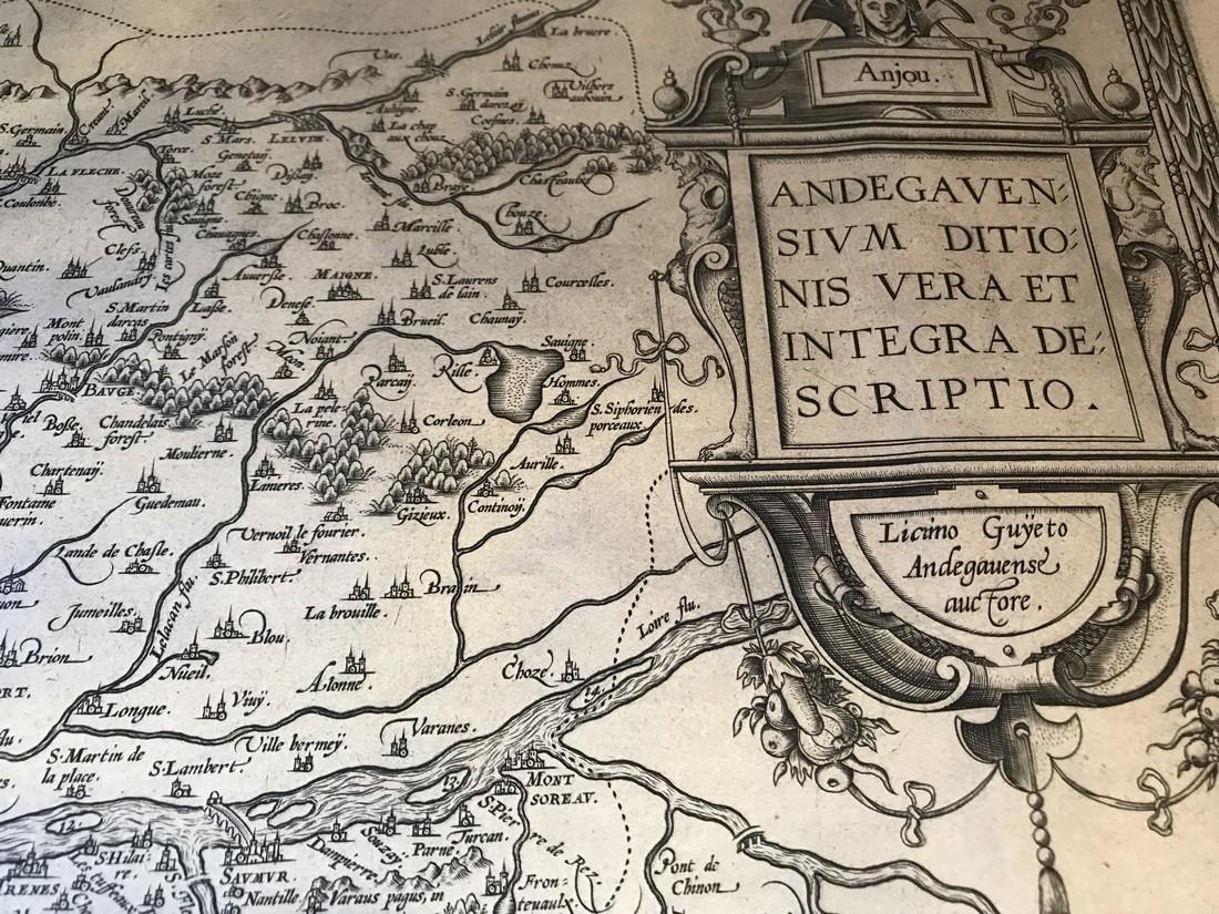 Ortelius Antique Map: Andegavensium Ditionis Vera Et - 2