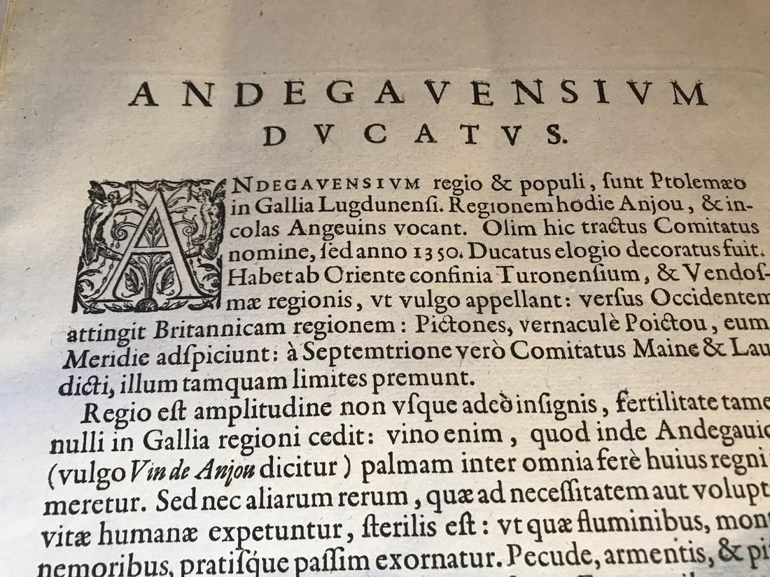 Ortelius Antique Map: Andegavensium Ditionis Vera Et - 4