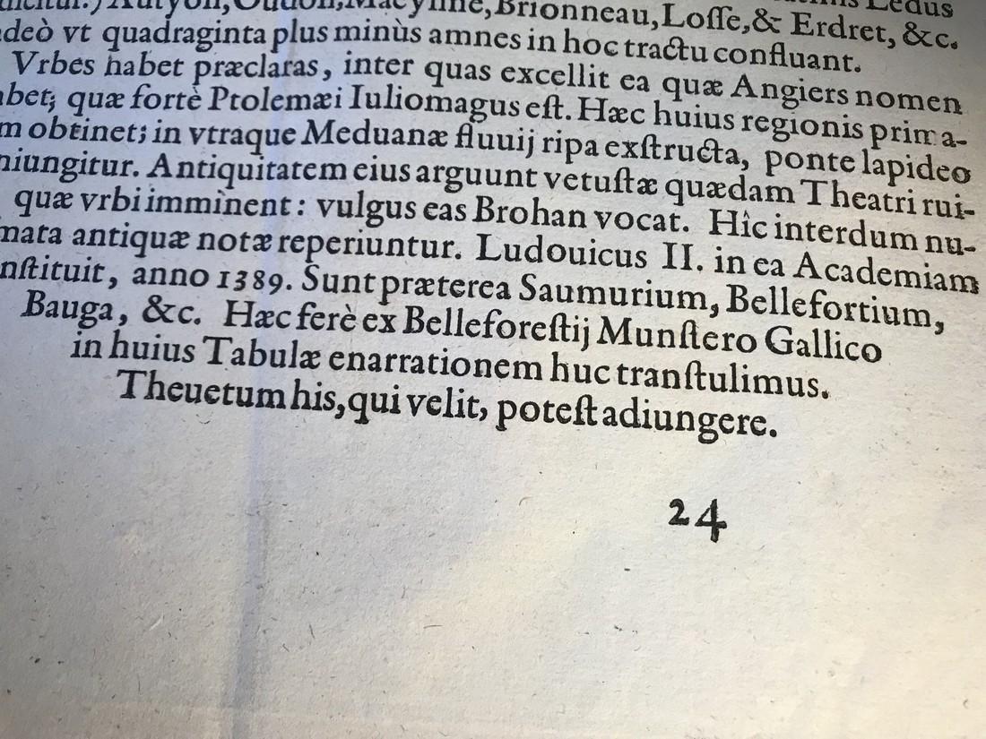 Ortelius Antique Map: Andegavensium Ditionis Vera Et - 5