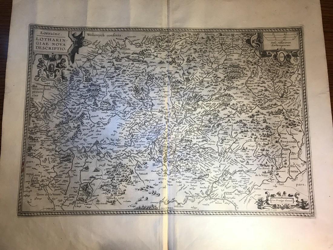 Ortelius Antique Map: Lorraine - Lotharingiae