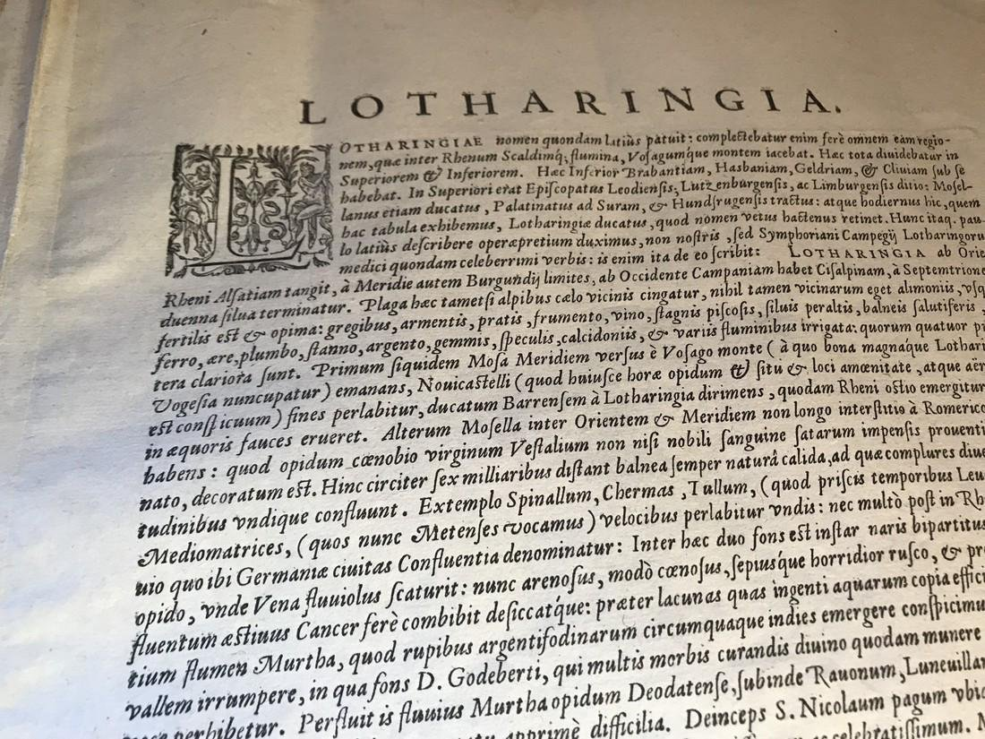 Ortelius Antique Map: Lorraine - Lotharingiae - 4