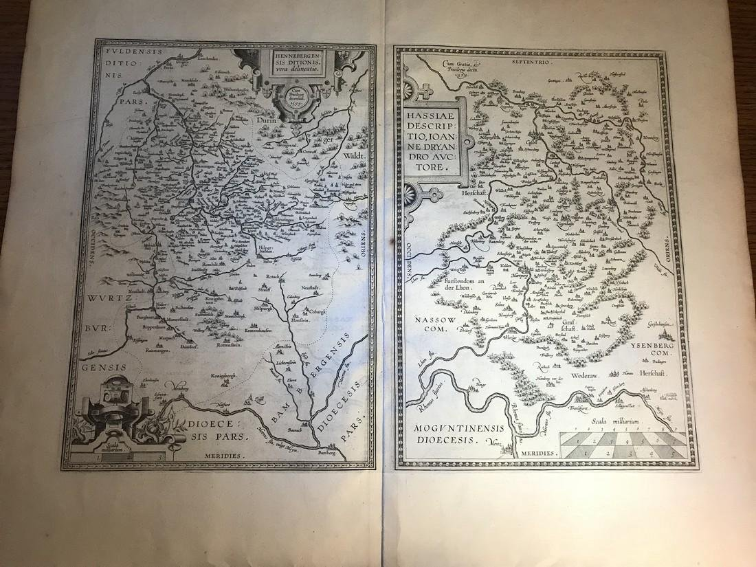 Ortelius Antique Map: Hennebergensis Ditionis – Hassiae