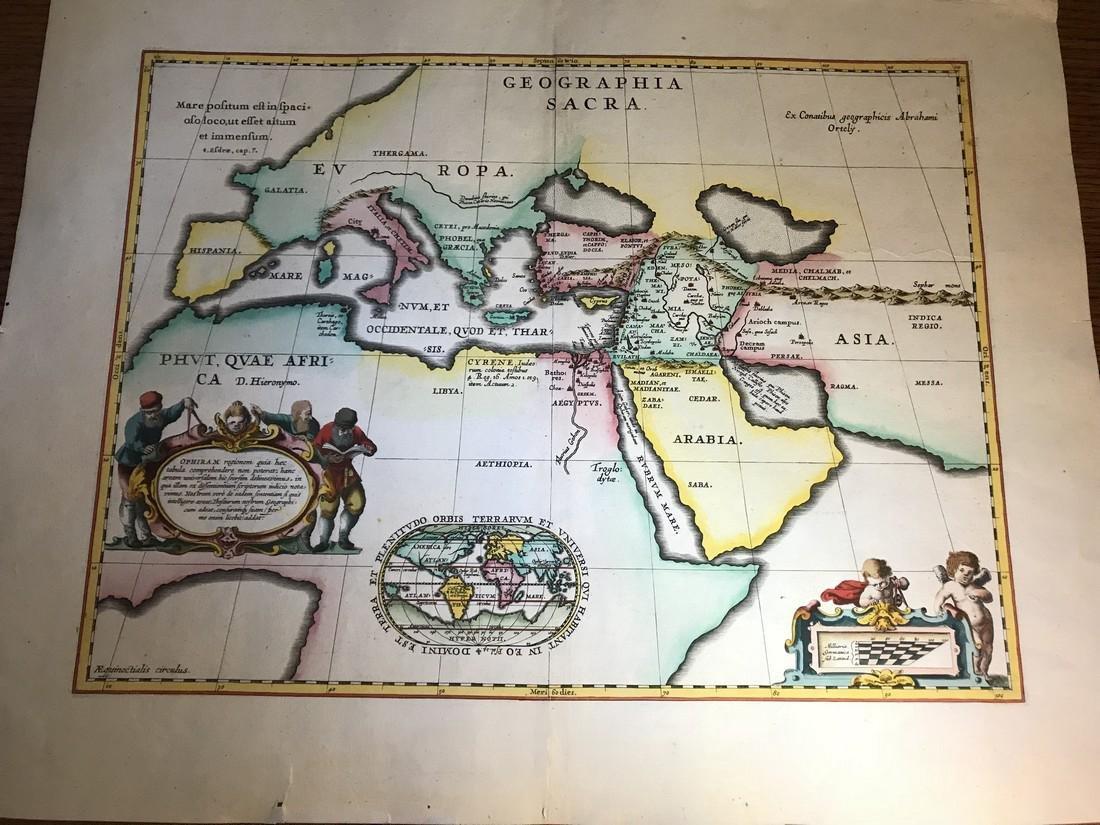 Ortelius Antique Map: Geographia Sacra