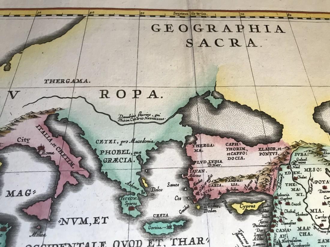 Ortelius Antique Map: Geographia Sacra - 2