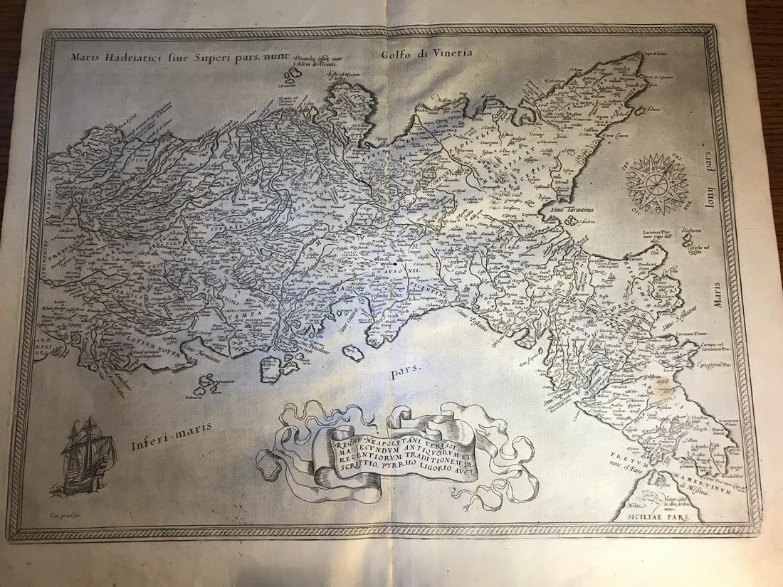Ortelius Antique Map: Regni Neapolitani Verissima