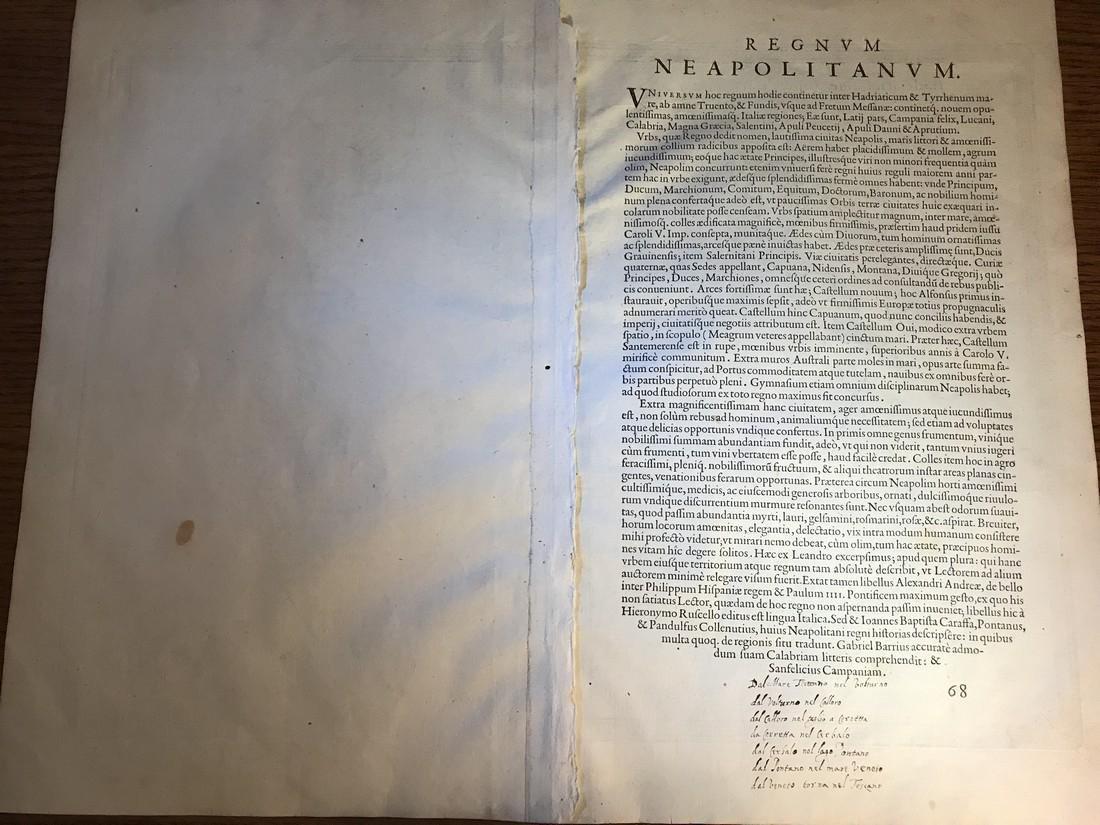 Ortelius Antique Map: Regni Neapolitani Verissima - 3