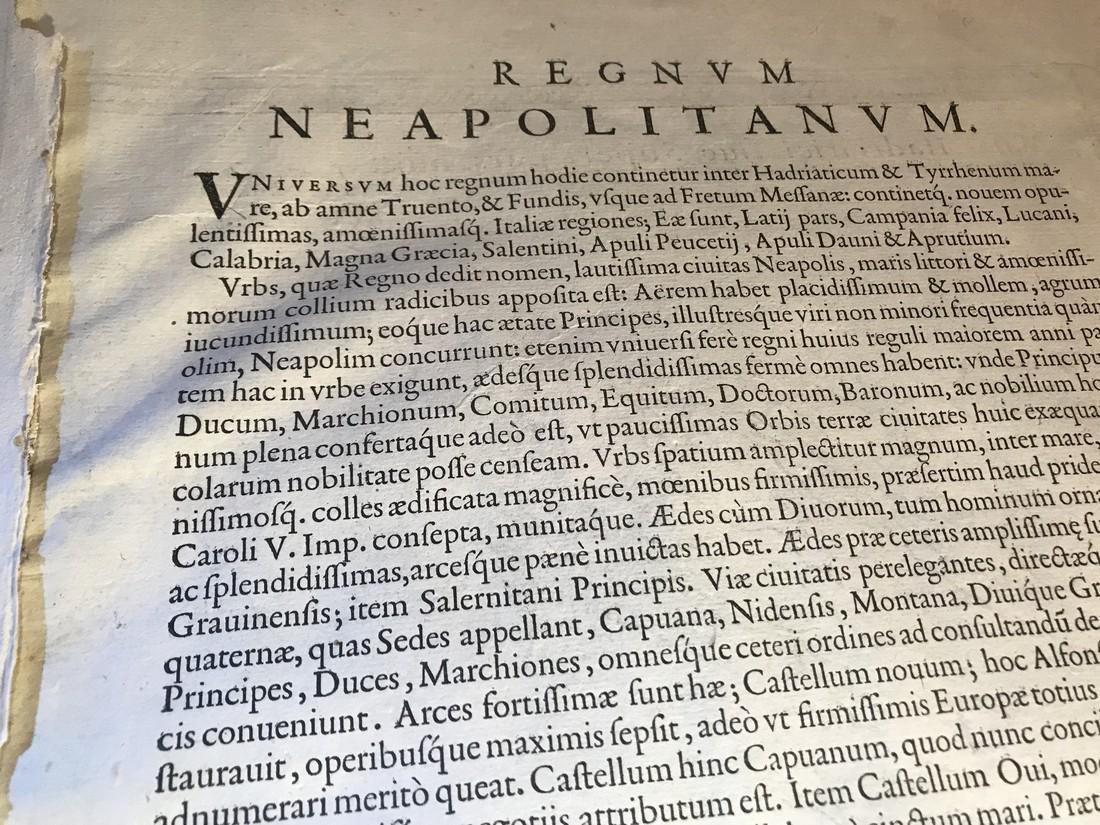 Ortelius Antique Map: Regni Neapolitani Verissima - 4