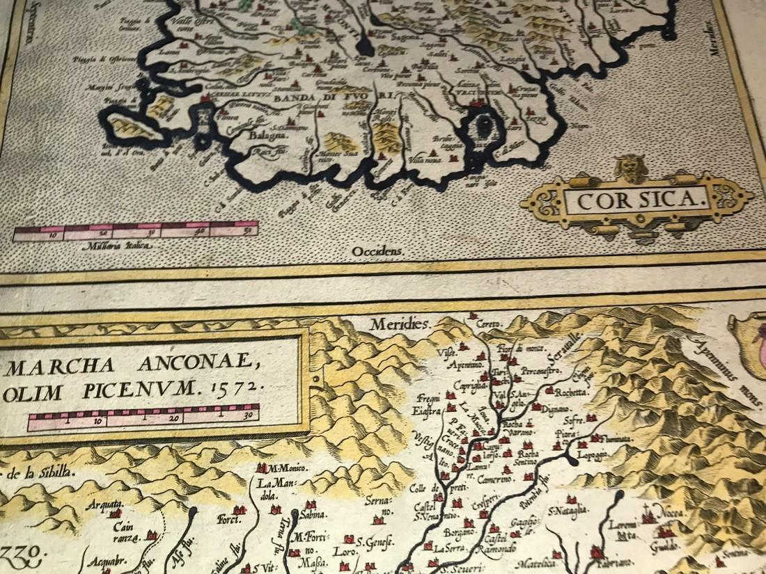 Ortelius Antique Map: Senensis Ditionis, Corsica, - 2