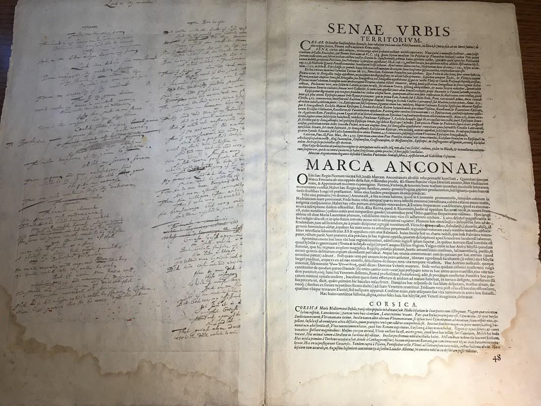Ortelius Antique Map: Senensis Ditionis, Corsica, - 3
