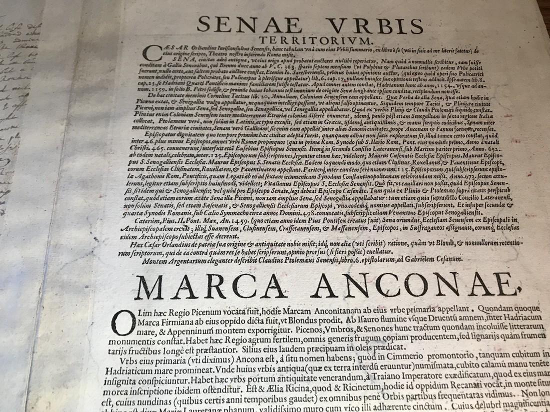 Ortelius Antique Map: Senensis Ditionis, Corsica, - 4