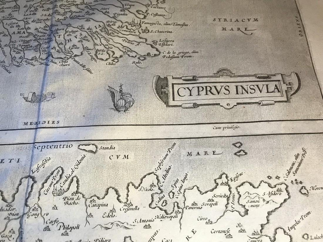 Ortelius Antique Map: Cyprus Insula, Candia Olim Creta - 2